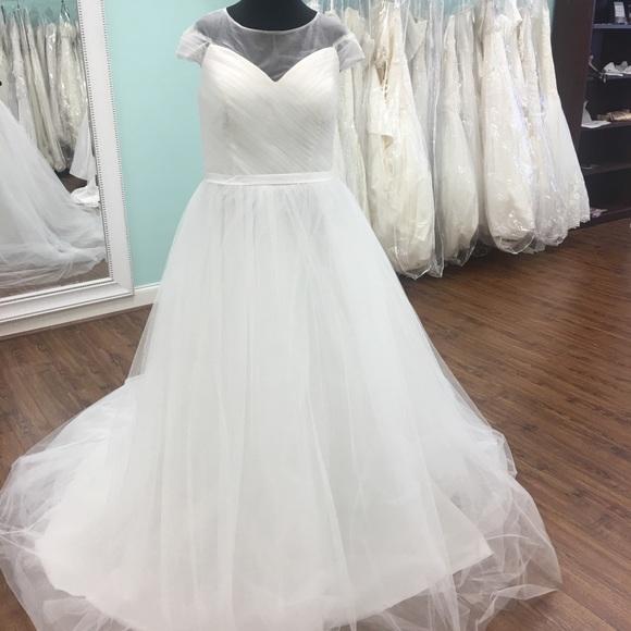Dresses Plus Size Chiffon Tulle Wedding Dress Poshmark